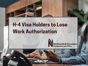 H-4 Visa Holders To Lose Work Authorizations