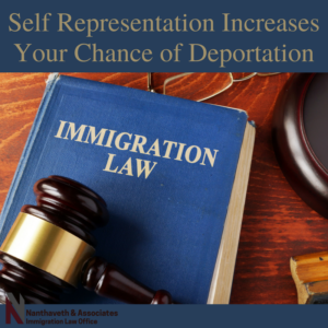 Self Representation Increases Your Chance of Deportation