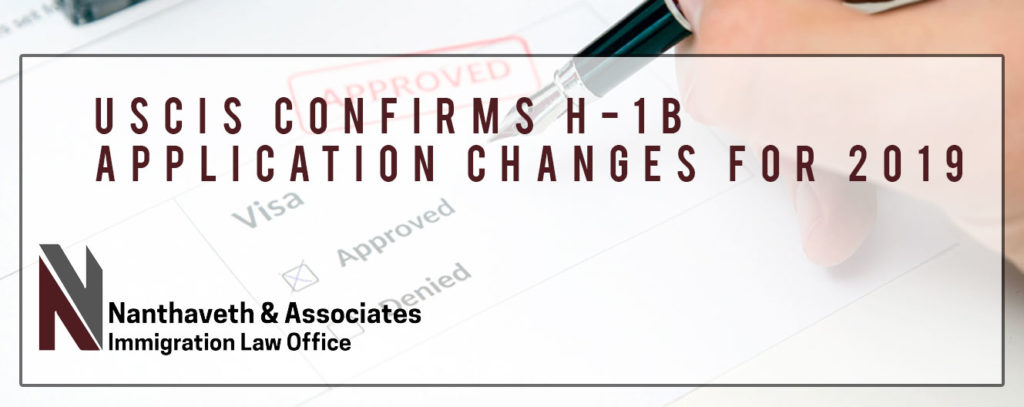 H-1B Application Changes